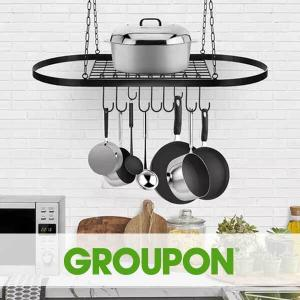 Up to 33% Off Sorbus Wall & Ceiling Mount Pot Rack with Hooks