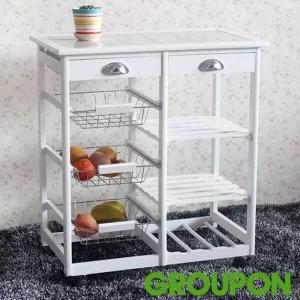 54% Off Kitchen Island Rolling Cart Storage Rack
