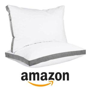 59% Off Utopia Bedding Gusseted Quilted Pillow (Set of 2)