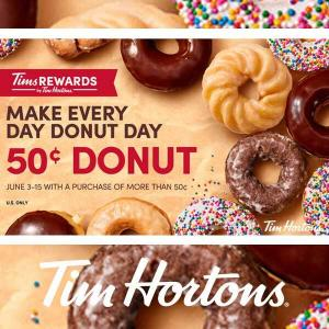 Get a Classic or Specialty Donut for 50 cents with Any 50 cents Purchase