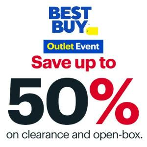 Outlet Event: Up to 50% Off Clearance & Open-Box Items