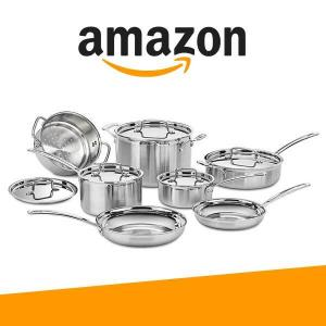 55% Off Cuisinart 12 Pc Multiclad Pro Stainless Steel Cookware Set