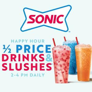 1/2 Price Drinks & Slushes