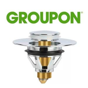 80% Off Stainless Steel Bounce Core Push-Type Converter Pop-up Drain Filter