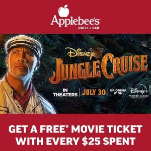 Free Movie Ticket with Every $25 Spent