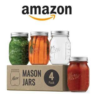 30% Off 4 Pack Regular-Mouth Glass Mason Jars
