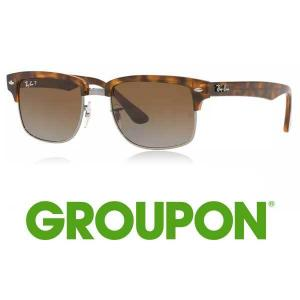 49% Off Ray-Ban Clubmaster Square Tortoise Frame with Polarized Lenses