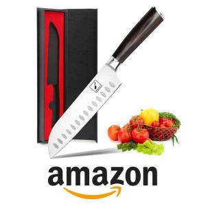"50% Off Stainless Steel 7"" Blade Japanese Santoku Kitchen Knife"