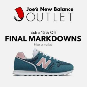 Extra 15% Off Final Markdowns