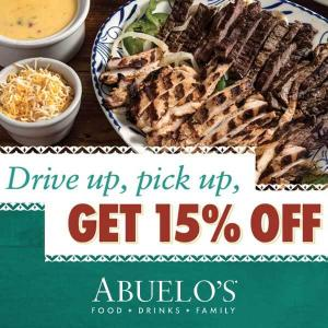15% Off Takeout or Curbside