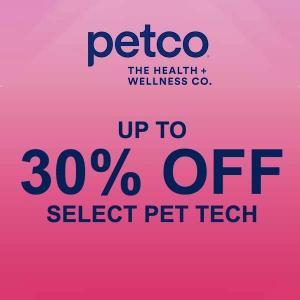 Up to 30% Off Select Pet Tech