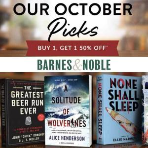 Our Monthly Picks: Buy 1, Get 1 50% Off