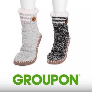 40% Off MUK LUKS Women's Chunky Short Slipper Sock
