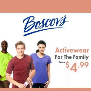 Activewear for the Family from $4.99