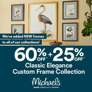 60% Off + 25% Off Classic Elegance Custom Frame Collection