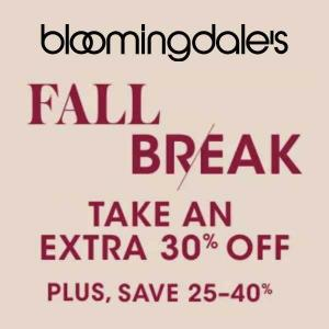 Ends 10/31: Fall Break: Extra 30% Off Clearance Items