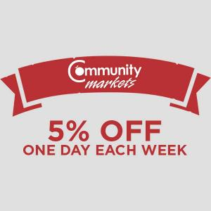 5% Off One Day Each Week