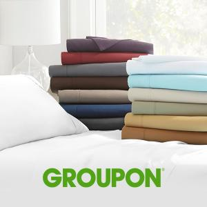 62% Off Deep-Pocket Merit Linens Microfiber Sheet Set (4-Piece)