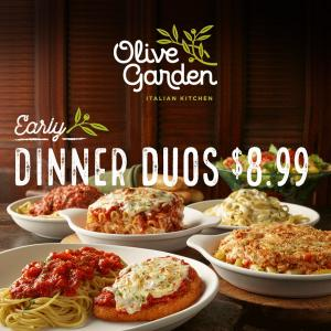 Early Dinner Duos for $8.99