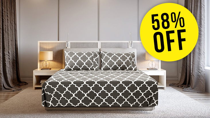 Amazon: Luxury 4 Piece Bed Sheets Set From $13.99 (58% Off)