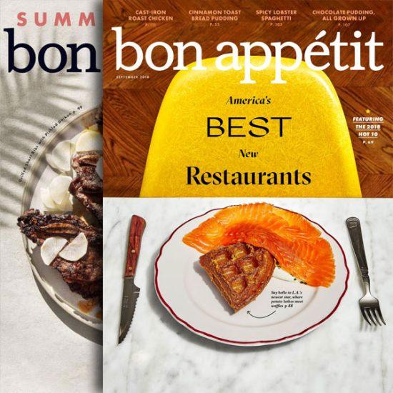 Bon Appetit Magazine: 92% Off 1 Year Auto-Renewal