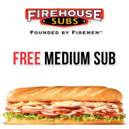 image relating to Printable Menu Firehouse Subs titled Absolutely free Medium Sub w/ Medium Or Huge Sub or Chips Consume