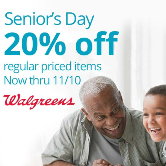 Senior's Day: 20% Off Select Items