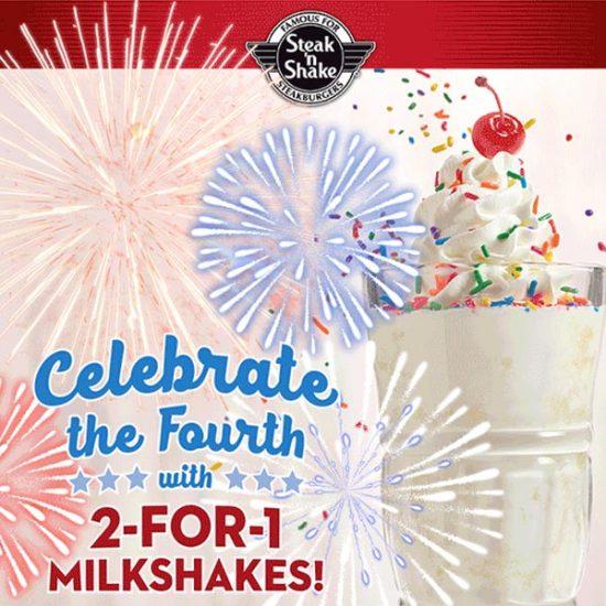 2 for 1 Milkshakes, Free Side & Coffee, $1 Off Royale Steakburger & More