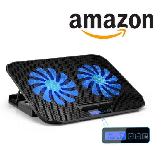 70% Off TekHome Laptop Cooling Pad/Stand w/ Blue LED Light