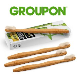 67% Off 24K Organic Natural Bamboo Toothbrushes (4-Pack)