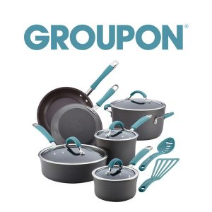 68% Off Rachael Ray Cucina Nonstick Cookware Set (12-Piece)