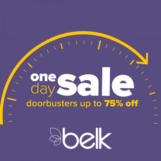 One Day Sale: Up to 75% Off Doorbusters + Extra 15% Off w/ Code