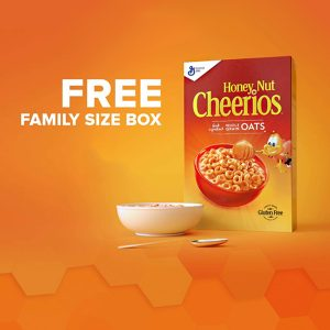 Free Family Size Box of Honey Nut Cheerios (Amazon Prime Only)