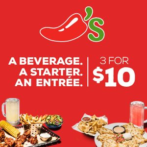 3 for $10 Special w/ Your Choice of Drink, Appetizer and Entreé