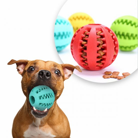 60% Off Interactive Rubber Ball Chew Toy & Treat Feeder for Dogs