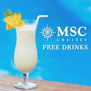 Free Drinks and WiFi Packages on MSC Cruises