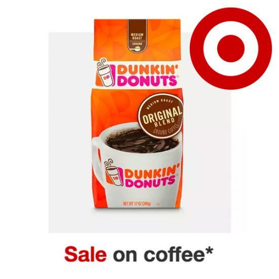 Sale on Coffee: Dunkin' Donuts, Starbucks & More