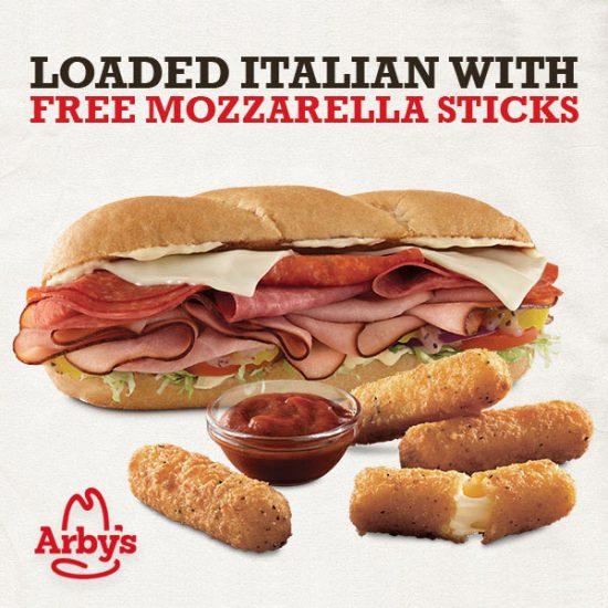 Free 6pc Mozzarella Sticks w/ Purchase