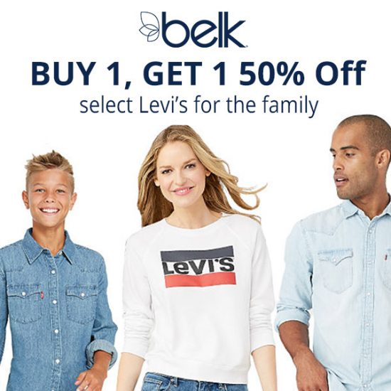 Buy 1, Get 1 50% Off Select Levi's for The Family