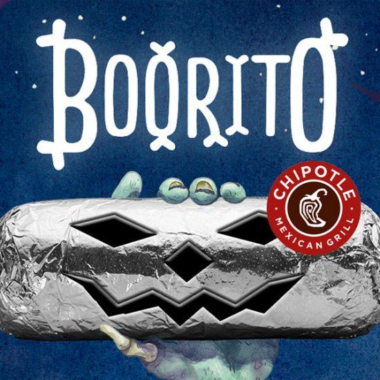$4 Burrito, Bowl, Salad or Tacos on Halloween