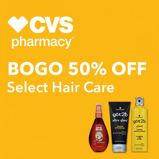 Buy 1 Get 1 50% Off Select Hair Care