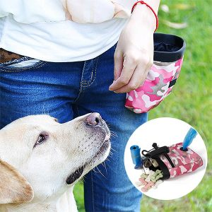 64% Off Pet Walking Pouch with Pockets for Snacks, Bags & More