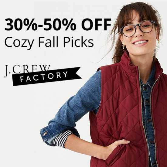 30-50% Off Cozy Fall Picks + Extra 25% Off Outerwear