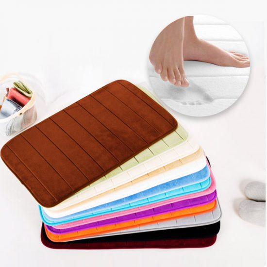 57% Off Memory Foam Water Absorbent Bathroom Mat