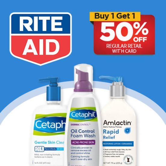 Buy 1 Get 1 50% Off Select Skin Care