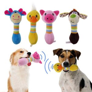 60% Off Squeaking Plush Animal-Shaped Pet Chew Toy