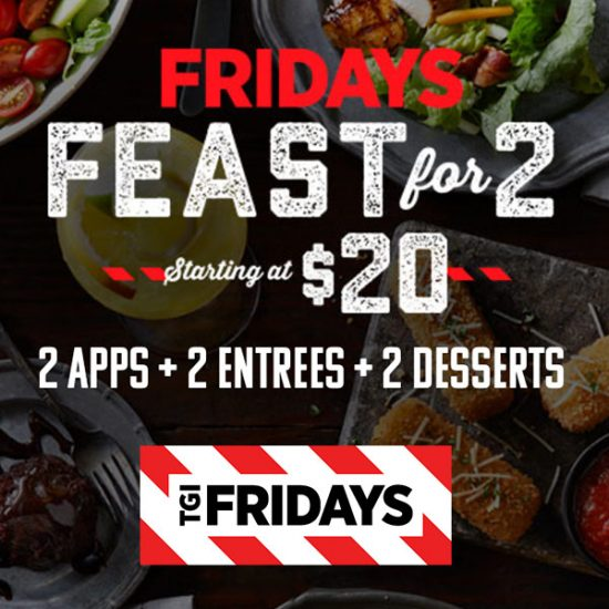 Friday Feast: 2 Appetizers, 2 Entrees & 2 Desserts for $20 Senior