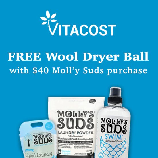 FREE Molly's Suds Wool Dryer Balls w/ $40 Purchase