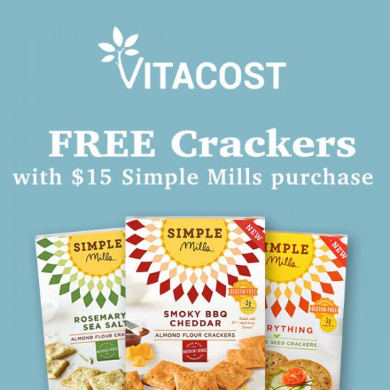 FREE Almond Flour Crackers w/ $15 Simple Mills Purchase