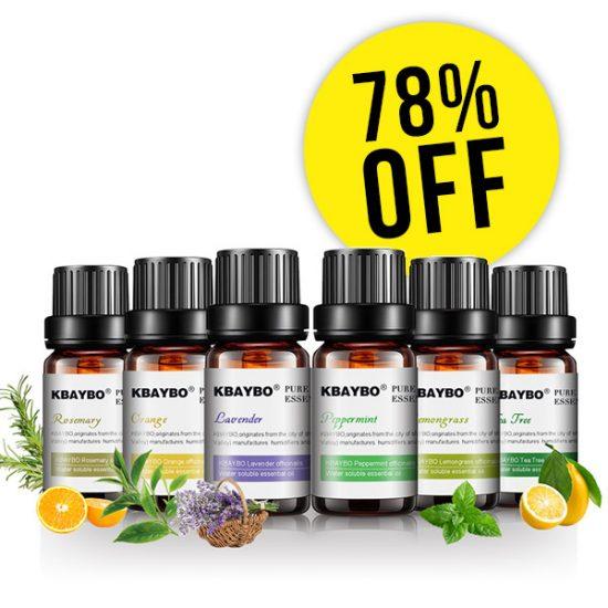 78% Off Pure Essential Oils (Set of 6)